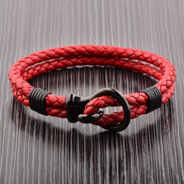 cc7ee0ff4f7ef Buy Cuff, Black Men's Bracelets Online at Overstock | Our Best Men's ...