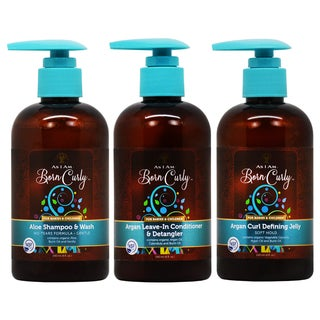 As I Am Born Curly Hair Care for Babies and Children 3-piece Set