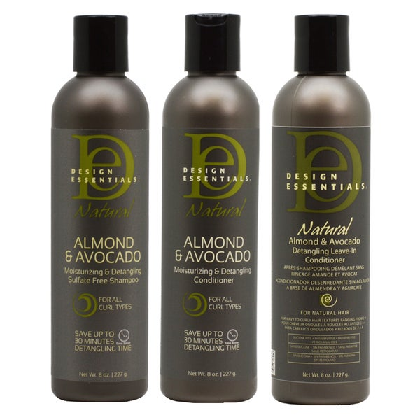 Design Essentials Almond Avocado Moisturizing Hair Care 3 Piece Set