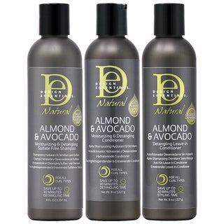 Design Essentials Almond & Avocado Moisturizing Hair Care 3-piece Set