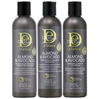 Design Essentials Almond & Avocado Moisturizing Hair Care 3-piece Set