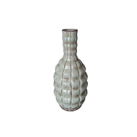"""Artemis 11"""" Terracotta Vase"""