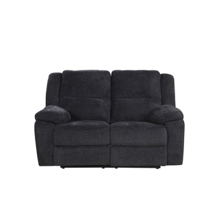 Comfortable Classic Microfiber Living Room Double Recliner Loveseat/Sofa