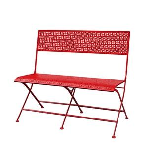 Jeco Qamar Red Iron Park Bench