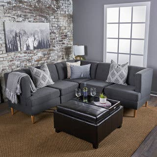 Milton Mid Century Modern 5-piece Fabric Sectional Sofa Set by Christopher Knight Home|https://ak1.ostkcdn.com/images/products/17809697/P24003341.jpg?impolicy=medium