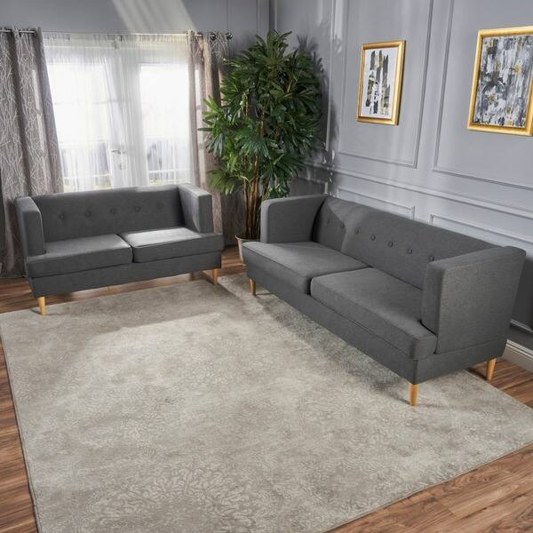 Prime Shop Milton Mid Century Modern 2 Piece Fabric Sofa Set By Unemploymentrelief Wooden Chair Designs For Living Room Unemploymentrelieforg