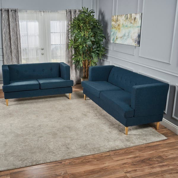 Incredible Shop Milton Mid Century Modern 2 Piece Fabric Sofa Set By Unemploymentrelief Wooden Chair Designs For Living Room Unemploymentrelieforg