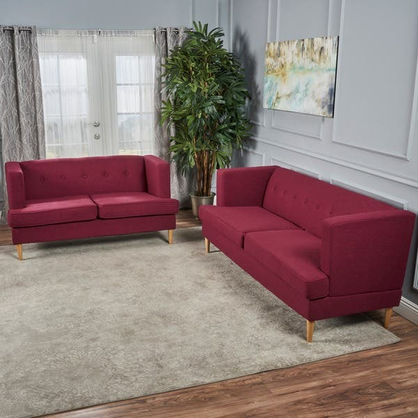 Fantastic Shop Milton Mid Century Modern 2 Piece Fabric Sofa Set By Onthecornerstone Fun Painted Chair Ideas Images Onthecornerstoneorg