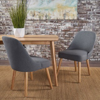 Trestin Mid Century Fabric Dining Chair (Set of 2) by Christopher Knight Home