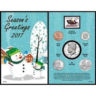 Snowman 2017 Coin Greeting Card