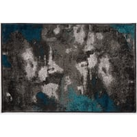 Abstract Distressed Modern Soft Rug - 2' x 3'