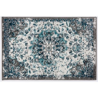 Traditional Distressed Medallion Soft Rug - 2' x 3'