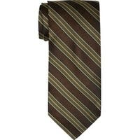 Twin Hill Mens Tie Brown 100% Silk Four-in-hand