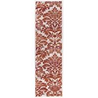 Transitional Floral Damask Soft Runner Rug - 2' x 7'
