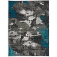 Abstract Distressed Modern Soft Area Rug - 7'10 x 10'