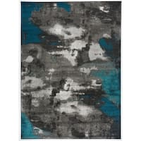 Abstract Distressed Modern Soft Area Rug - 5'3 x 7'3
