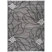 Transitional Large Floral Soft Area Rug (5'3 x 7'3)