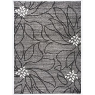 Transitional Modern Large Floral Soft Area Rug - 7'10 x 10'