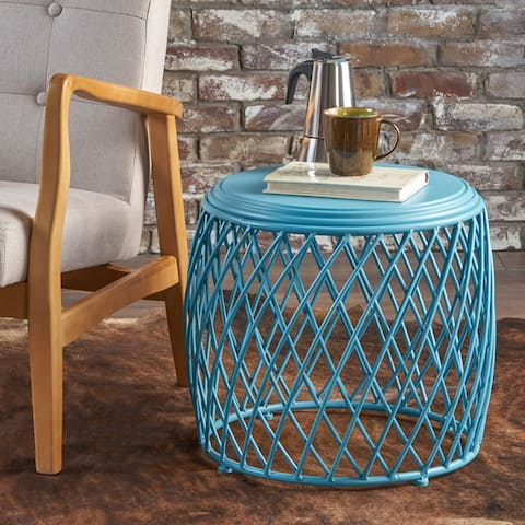 Bryony 19-inch Round Lattice Side Table by Christopher Knight Home