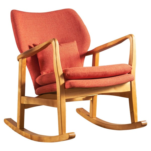 Awesome Shop Benny Mid Century Modern Fabric Rocking Chair By Alphanode Cool Chair Designs And Ideas Alphanodeonline