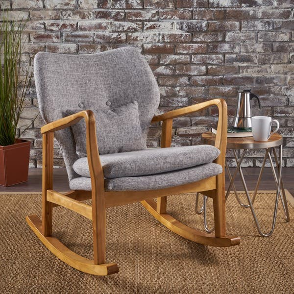 Excellent Shop Benny Mid Century Modern Fabric Rocking Chair By Gmtry Best Dining Table And Chair Ideas Images Gmtryco