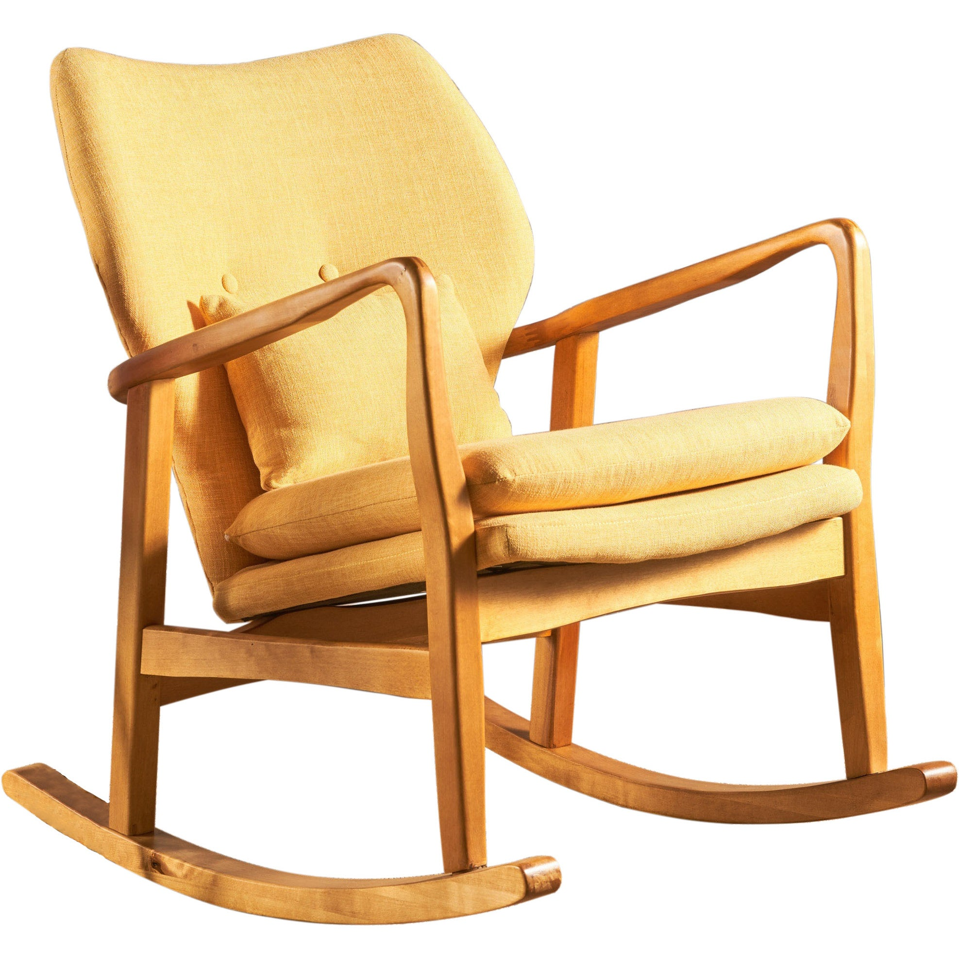Delicieux Shop Benny Mid Century Modern Fabric Rocking Chair By Christopher Knight  Home   On Sale   Free Shipping Today   Overstock   17814193