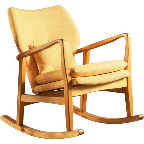 Benny Mid Century Modern Fabric Rocking Chair by Christopher Knight Home