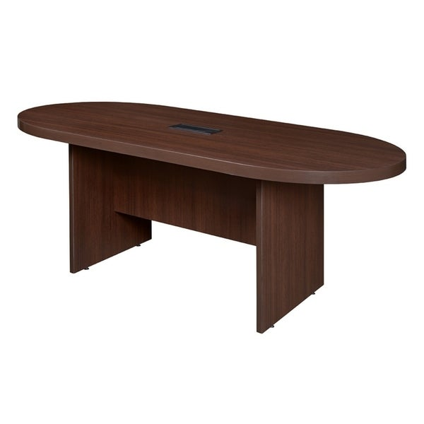 "Legacy 71"" Racetrack Conference Table with Power- Java - Mocha"