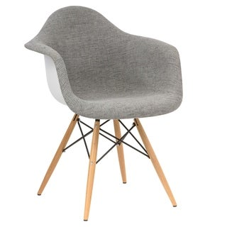 LeisureMod Willow Fabric Eiffel Accent Chair