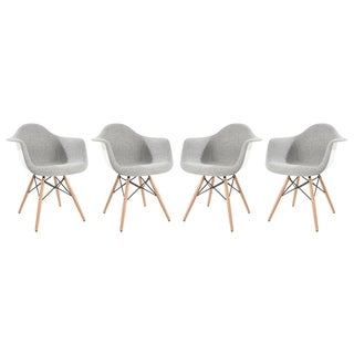 LeisureMod Willow Eiffel Fabric Accent Chair (Set of 4)