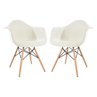 LeisureMod Willow Fabric Eiffel Accent Chairs (Set of 2)