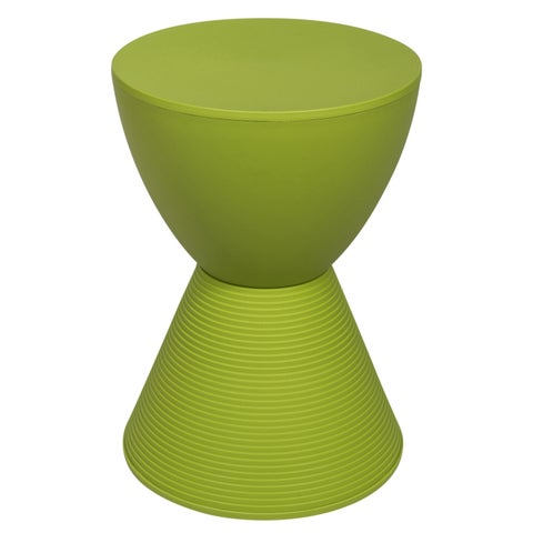 LeisureMod Modern Plastic Boyd Green Side Table