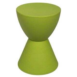 LeisureMod Modern Plastic Boyd Green Side Table