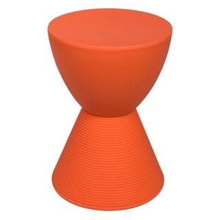LeisureMod Modern Boyd Round Orange Side Table