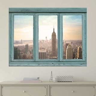 Architecture of New York City Wall Mural, Removable Sticker, Home Decor Wall Vinyl