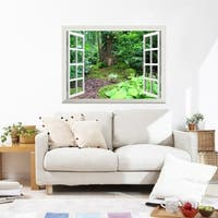 Elf Tree House in Forest Cave Wall Mural, Removable Sticker, Home Decor Wall Vinyl