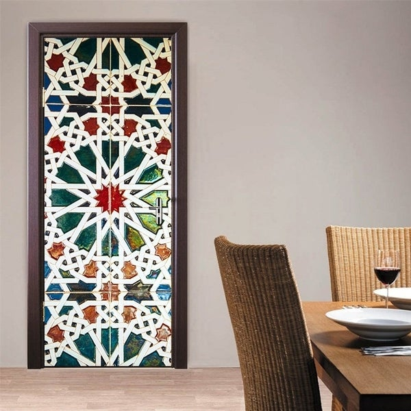 Shop D Kaleidoscope Door Wall Mural Wallpaper Stickers Removable - 3d vinyl flooring for sale