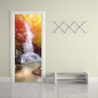 Door Wall Mural Wallpaper Stickers Waterfall Vinyl Removable 3D Decals Wall Vinyl