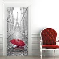 3D Eiffel Tower Door Wall Mural Wallpaper Removable Stickers for Home Decoration Wall Vinyl