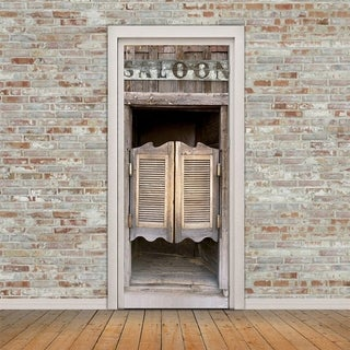 3D Saloon Door Wall Mural Wallpaper Stickers Removable Decals for Home Retro Decoration Wall Vinyl