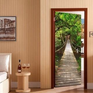 3D Drawbridge Door Wall Mural Wallpaper Vinyl Removable Stickers for Home Decoration Wall Vinyl