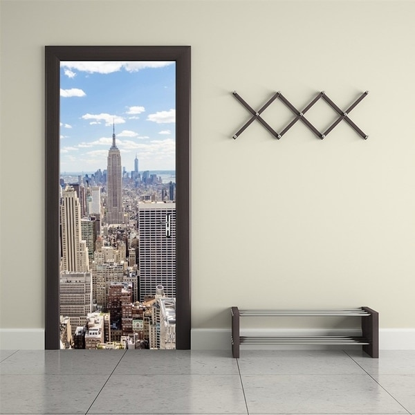 Shop New York City View Wall Mural Door Wallpaper Stickers for Home