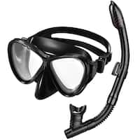 Snorkel Set, Dry Top Snorkel Set with Tempered Glass Diving Mask and Dry Snorkel, etc