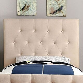 Leeroy Ii Contemporary Twin Size Headboard Ivory Finish