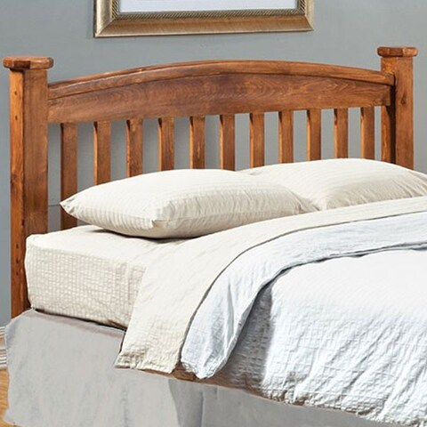 Buffalo Transitional Twin Headboard, Rustic Oak Finish