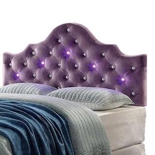 Aldebaran Contemporary Twin Size Headboard, Purple