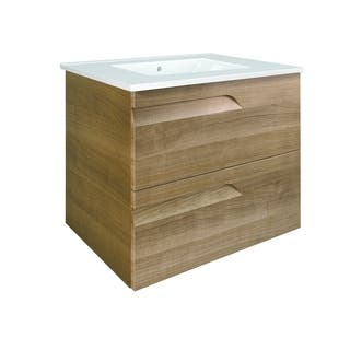 Eviva Vitta 24 Walnut Modern Bathroom Vanity with White Integrated Porcelain Sink|https://ak1.ostkcdn.com/images/products/17816657/P24009061.jpg?impolicy=medium
