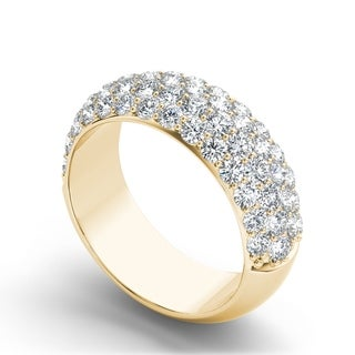 De Couer IGI Certified 14k Yellow Gold 2ct TDW Diamond Wedding Band