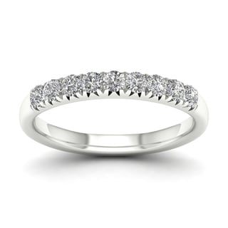De Couer 14k White Gold 2/5ct TDW Diamond Women's Wedding Band - White H-I