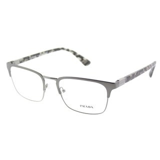 Prada Rectangle PR 54TV 7CQ1O1 Unisex Matte Gunmetal Frame Eyeglasses